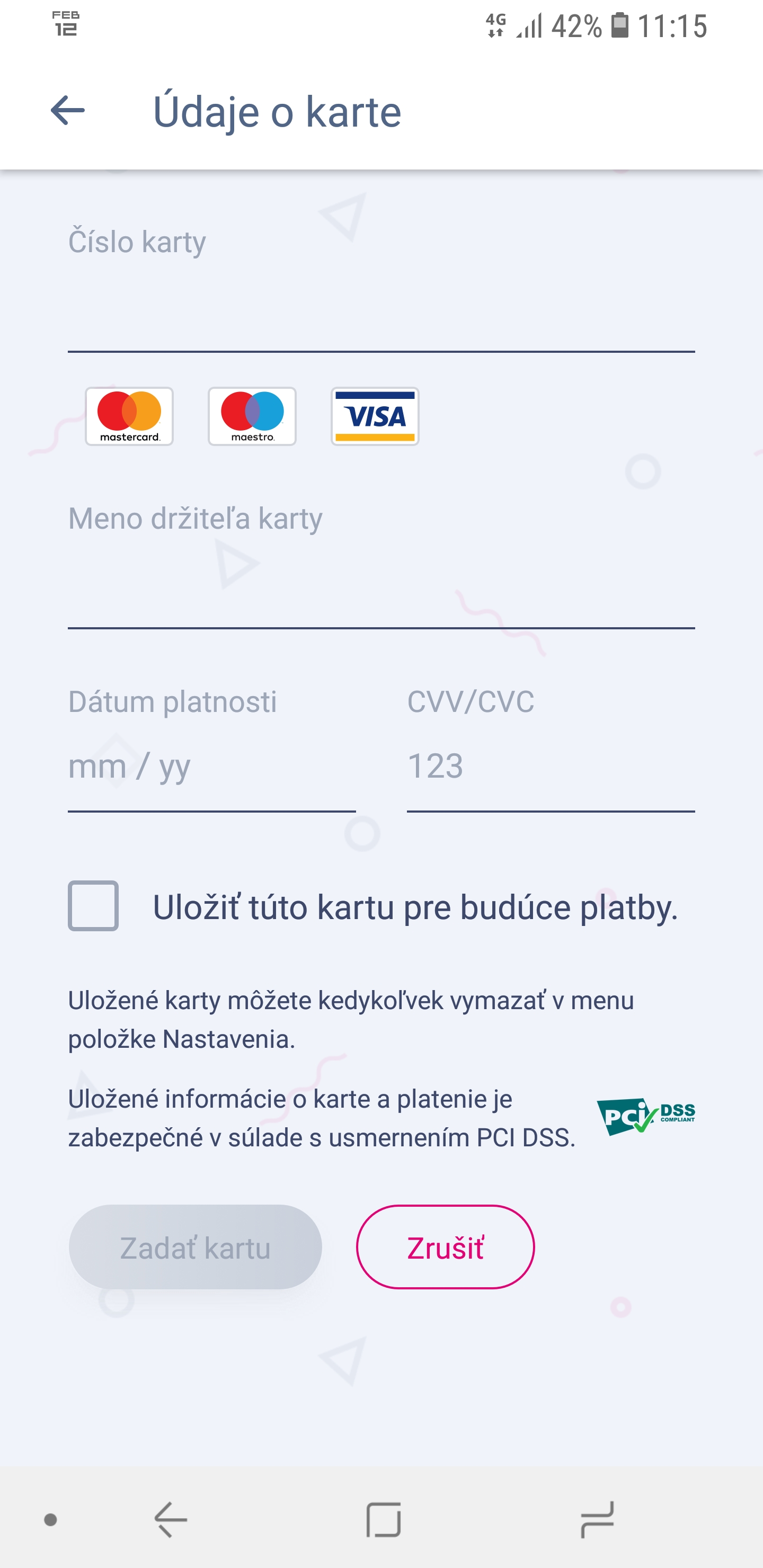 Dátumové údaje poštovej schránky