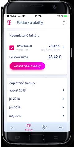 170031a52 Aplikácia vám umožní uhradiť jednu alebo viaceré faktúry za rôzne služby  naraz. Navyše si môžete uložiť údaje o platobnej karte na ďalšie použitie